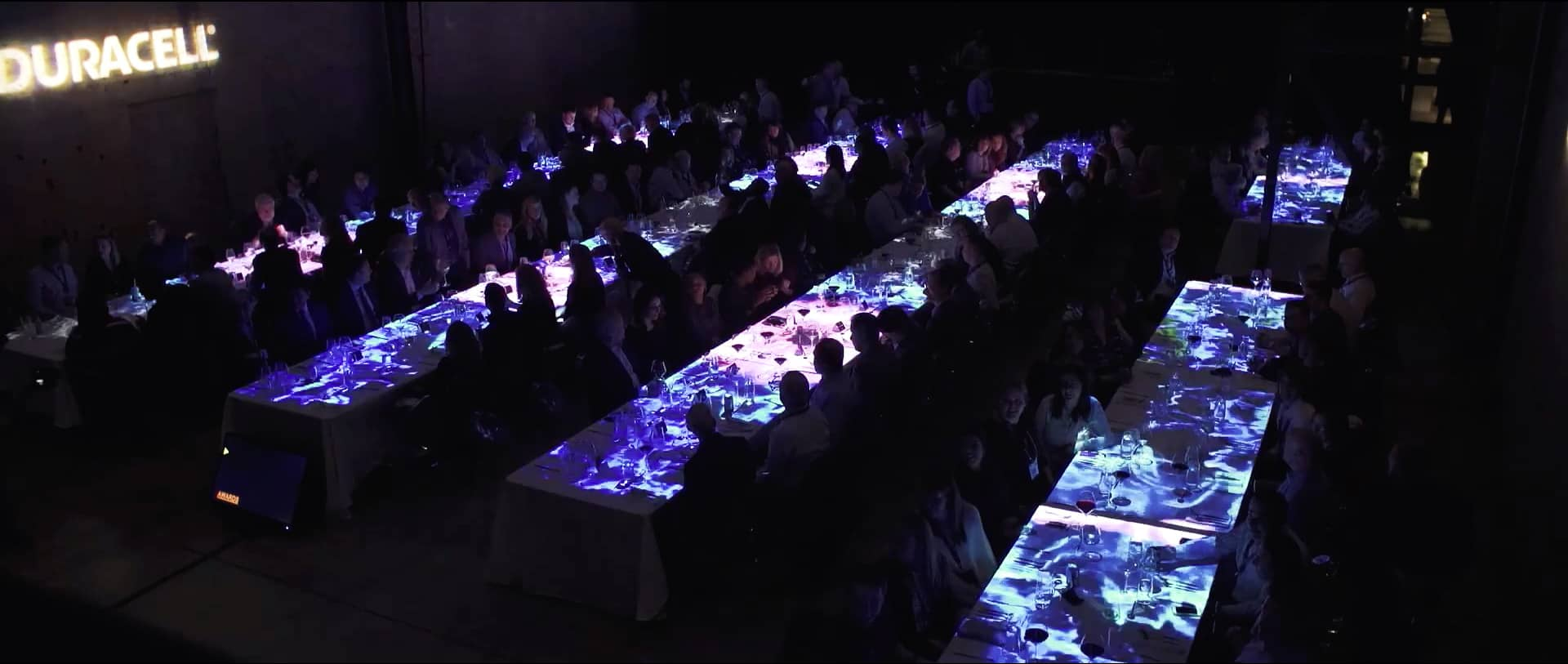Duracell Video Mapping Projection Dinner