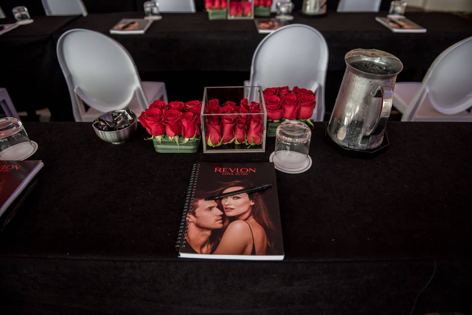 Business meeting centerpieces | Revlon Distributor Summit